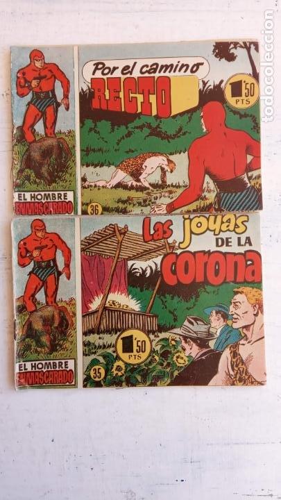 Tebeos: EL HOMBRE ENMASCARADO ORIGINAL AÑO 1952 - COMPLETA 1 AL 38 - VER NUMEROSAS IMÁGENES - Foto 58 - 190479470