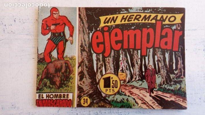 Tebeos: EL HOMBRE ENMASCARADO ORIGINAL AÑO 1952 - COMPLETA 1 AL 38 - VER NUMEROSAS IMÁGENES - Foto 65 - 190479470