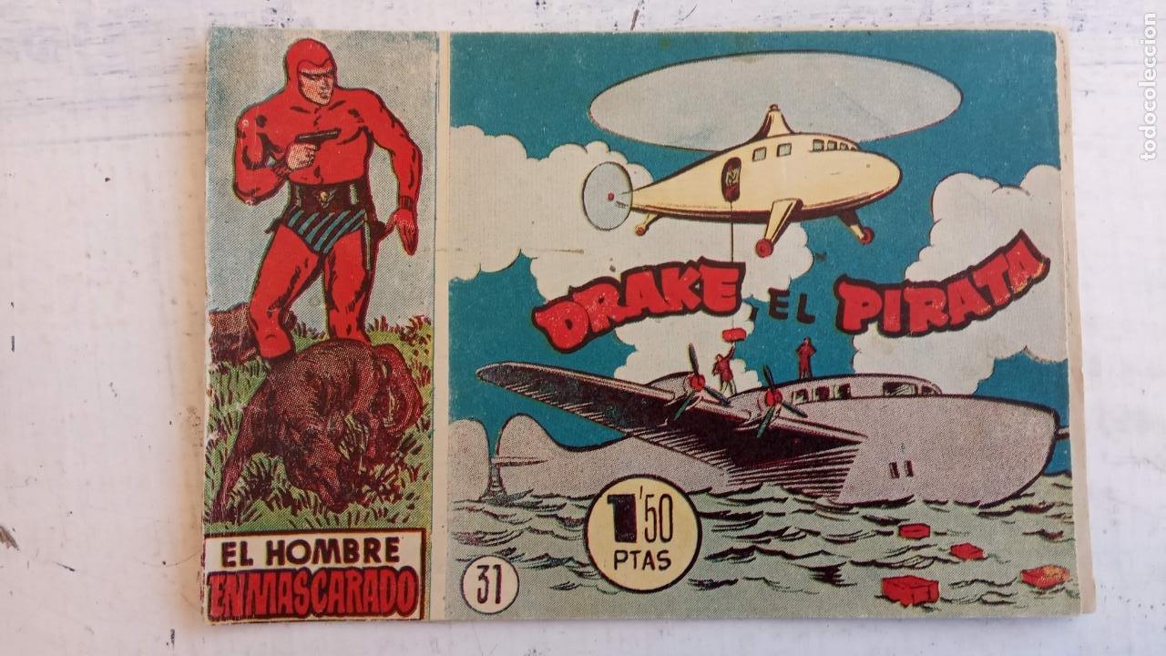 Tebeos: EL HOMBRE ENMASCARADO ORIGINAL AÑO 1952 - COMPLETA 1 AL 38 - VER NUMEROSAS IMÁGENES - Foto 91 - 190479470