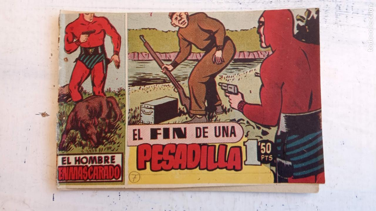 Tebeos: EL HOMBRE ENMASCARADO ORIGINAL AÑO 1952 - COMPLETA 1 AL 38 - VER NUMEROSAS IMÁGENES - Foto 105 - 190479470