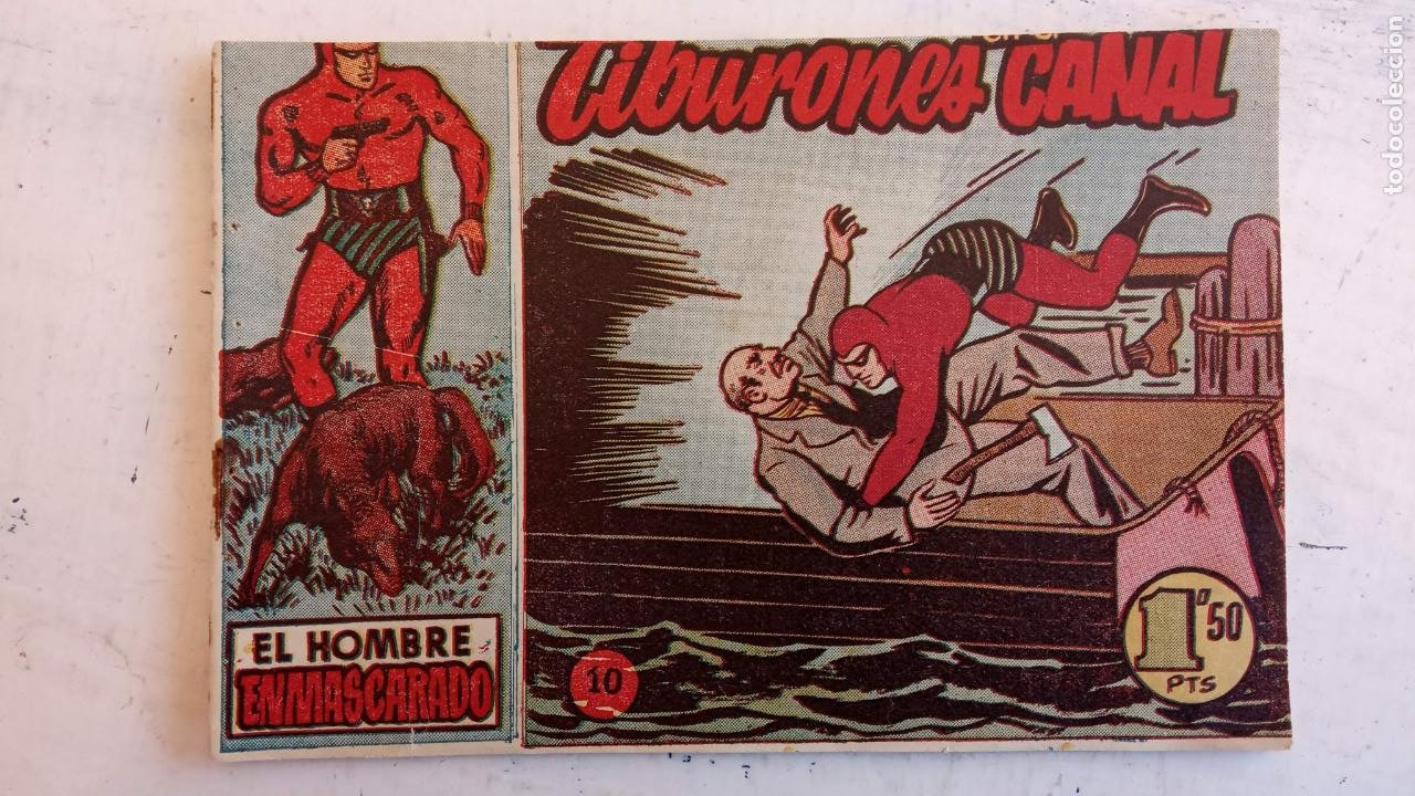 Tebeos: EL HOMBRE ENMASCARADO ORIGINAL AÑO 1952 - COMPLETA 1 AL 38 - VER NUMEROSAS IMÁGENES - Foto 110 - 190479470