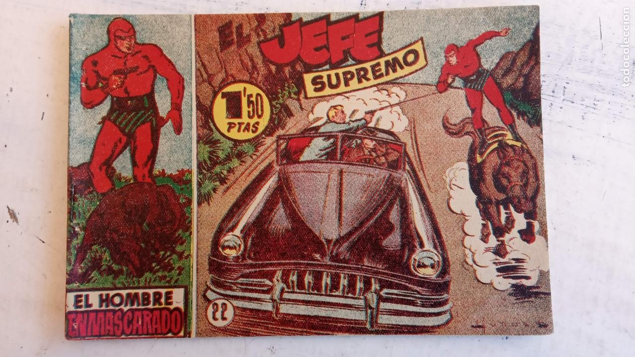 Tebeos: EL HOMBRE ENMASCARADO ORIGINAL AÑO 1952 - COMPLETA 1 AL 38 - VER NUMEROSAS IMÁGENES - Foto 127 - 190479470