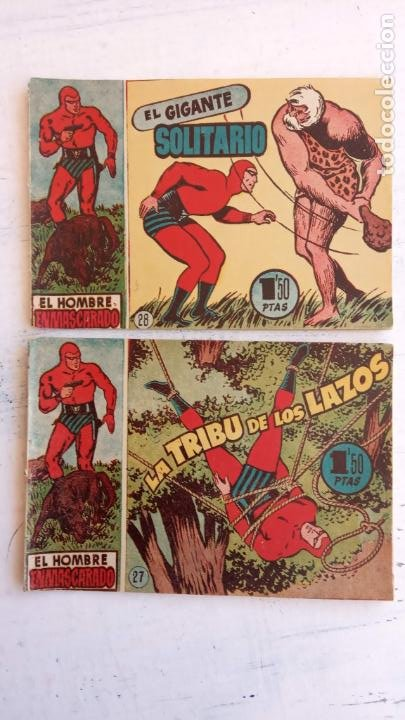 Tebeos: EL HOMBRE ENMASCARADO ORIGINAL AÑO 1952 - COMPLETA 1 AL 38 - VER NUMEROSAS IMÁGENES - Foto 134 - 190479470