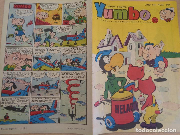 Tebeos: Revista Infantil Yumbo Nº 364. Edita Hispano Americana 1959. Buen estado - Foto 3 - 190549335