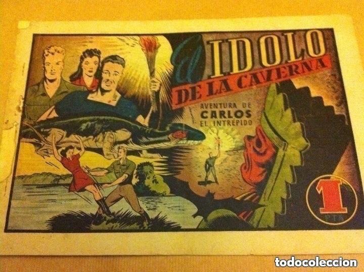 CARLOS EL INTRÉPIDO - EL IDOLO DE LA CAVERNA -(LOMO REPARADO) (Tebeos y Comics - Hispano Americana - Carlos el Intrépido)