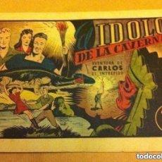 Tebeos: CARLOS EL INTRÉPIDO - EL IDOLO DE LA CAVERNA -(LOMO REPARADO). Lote 190934447