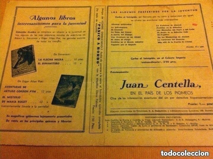 Tebeos: carlos el intrépido - el idolo de la caverna -(lomo reparado) - Foto 2 - 190934447