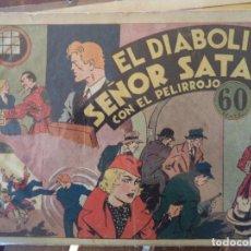Tebeos: EL DIABOLICO SEÑOR SATAN CON EL PELIRROJO ORIGINAL. Lote 191292596