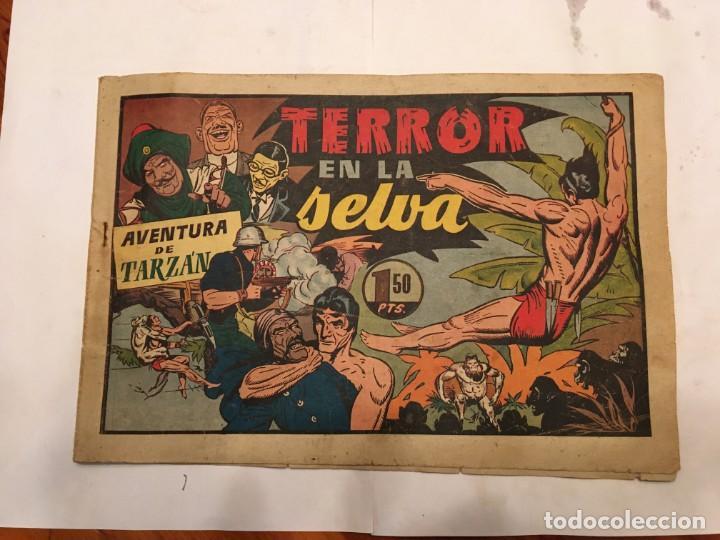 COMIC ANTIGUO, AVENTURA DE TARZAN,MUY FRAGIL , ESTADO REGULAR , CON GRIETAS, PERO NO ROTO, VER FOTOS (Tebeos y Comics - Hispano Americana - Tarzán)
