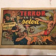 Tebeos: COMIC ANTIGUO, AVENTURA DE TARZAN,MUY FRAGIL , ESTADO REGULAR , CON GRIETAS, PERO NO ROTO, VER FOTOS. Lote 191632430