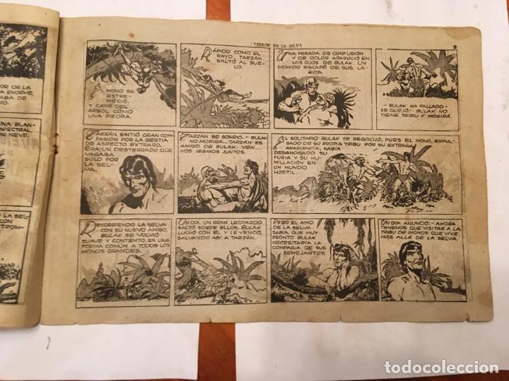 Tebeos: comic antiguo, aventura de tarzan,muy fragil , estado regular , con grietas, pero no roto, ver fotos - Foto 4 - 191632430