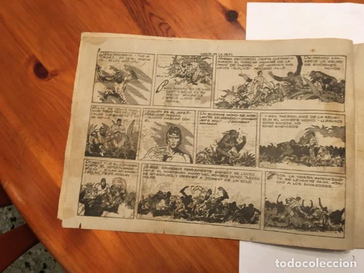 Tebeos: comic antiguo, aventura de tarzan,muy fragil , estado regular , con grietas, pero no roto, ver fotos - Foto 5 - 191632430