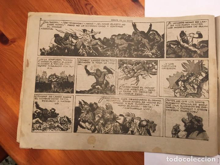 Tebeos: comic antiguo, aventura de tarzan,muy fragil , estado regular , con grietas, pero no roto, ver fotos - Foto 7 - 191632430