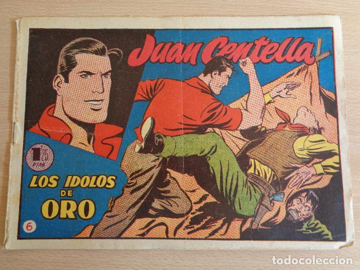 JUAN CENTELLA NÚM. 6. LOS ÏDOLOS DE ORO. ORIGINAL. EDITA HISPANO AMERICANA 1955. 1,25 PTAS (Tebeos y Comics - Hispano Americana - Juan Centella)