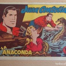 Tebeos: JUAN CENTELLA NÚM. 17. LA ANACONDA. ORIGINAL. EDITA HISPANO AMERICANA 1955. 1,25 PTAS. Lote 191922451