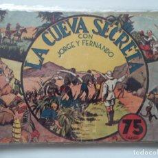 Tebeos: LA CUEVA SECRETA ORIGINAL CON LOS CROMOS. Lote 192158845