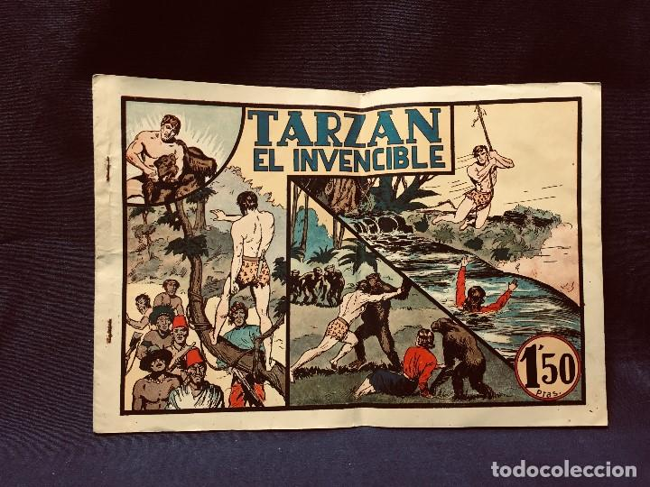 CÓMIC BLANCO NEGRO TARZÁN EL INVENCIBLE HISPANO AMERICANA EDICIONES MEDIADOS S XX (Tebeos y Comics - Hispano Americana - Tarzán)