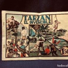 Tebeos: CÓMIC BLANCO NEGRO TARZÁN EL INVENCIBLE HISPANO AMERICANA EDICIONES MEDIADOS S XX. Lote 192321410