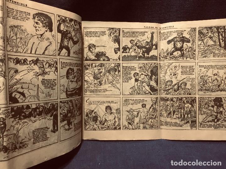 Tebeos: cómic blanco negro tarzán el invencible hispano americana ediciones mediados s xx - Foto 3 - 192321410