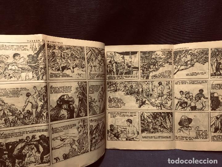 Tebeos: cómic blanco negro tarzán el invencible hispano americana ediciones mediados s xx - Foto 4 - 192321410