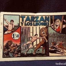 Tebeos: CÓMIC TARZÁN Y LOS LEONES EDICIONES HISPANO AMERICANA MEDIADOS S XX. Lote 192323878