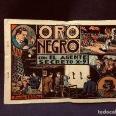 BDs: CÓMIC ORO NEGRO CON EL AGENTE SECRETO X 9 BLANCO NEGRO MEDIADOS S XX. Lote 192324541