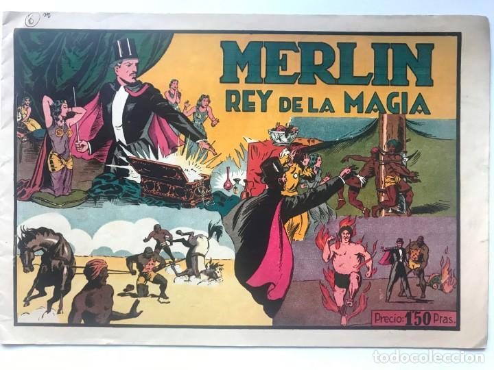 MERLIN REY DE LA MAGIA Nº 1 AÑOS 40 EDI,HISPANO AMERICANA (Tebeos y Comics - Hispano Americana - Merlín)