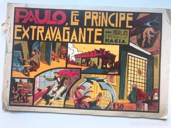 PAULO. EL PRINCIPE EXTRAVAGANTE. MERLIN EL REY DE LA MAGIA (Tebeos y Comics - Hispano Americana - Merlín)