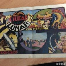 Tebeos: MERLIN EL REY DE LA MAGIA Nº 6 LA CIUDAD LUNAR (ORIGINAL HISPANO AMERICANA) INCLUYE CROMOS (COIB58). Lote 192929145