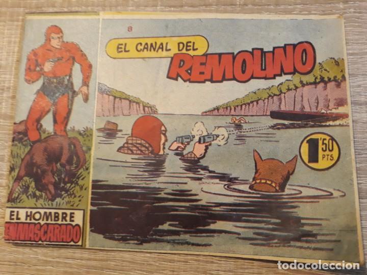 HOMBRE ENMASCARADO .EL CANAL DEL REMOLINO NÚMERO 8 DE LOS PEQUEÑOS (Tebeos y Comics - Hispano Americana - Hombre Enmascarado)