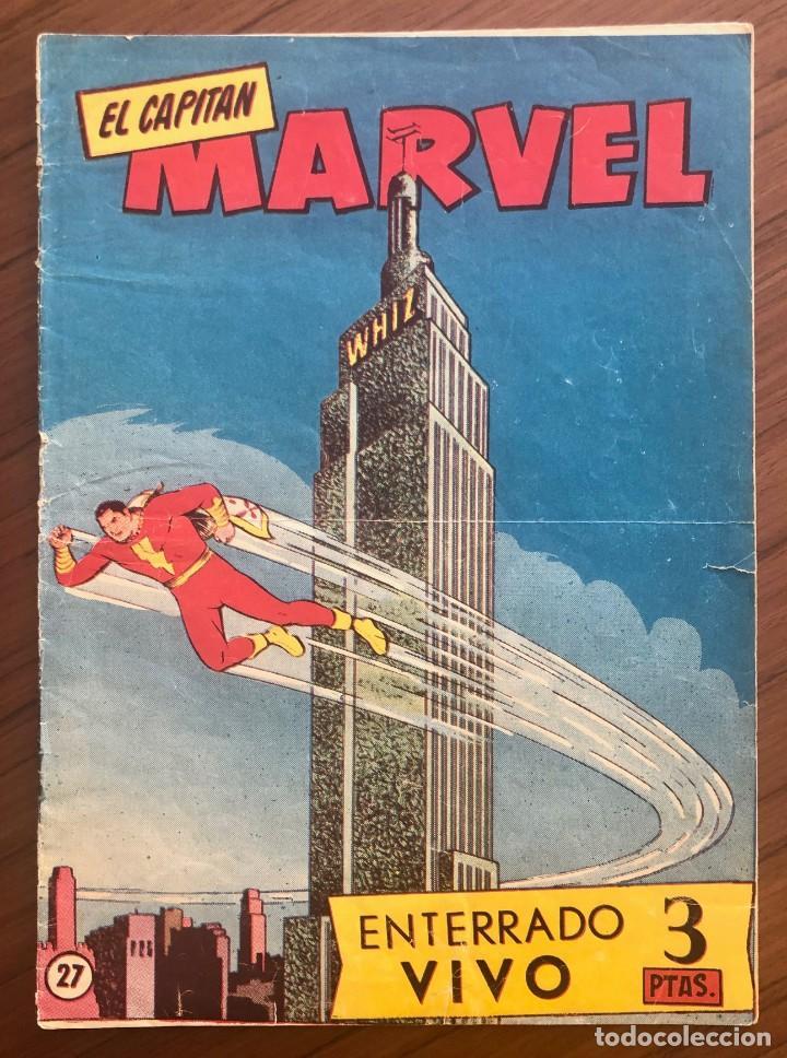 EL CAPITÁN MARVEL 27 ENTERRADO VIVO. (H.AMERICANA 1960) ORIGINAL EN BUEN ESTADO (Tebeos y Comics - Hispano Americana - Capitán Marvel)