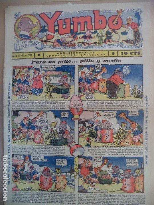 YUMBO EL ELEFANTE SABIO Y SU PANDILLA AÑO II Nº 29 (Tebeos y Comics - Hispano Americana - Yumbo)