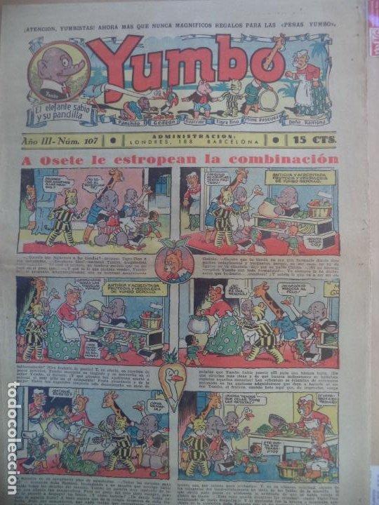 YUMBO EL ELEFANTE SABIO Y SU PANDILLA AÑO III Nº 107 (Tebeos y Comics - Hispano Americana - Yumbo)