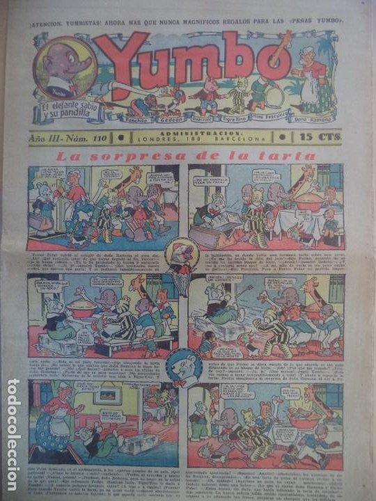 YUMBO EL ELEFANTE SABIO Y SU PANDILLA AÑO III Nº 110 (Tebeos y Comics - Hispano Americana - Yumbo)