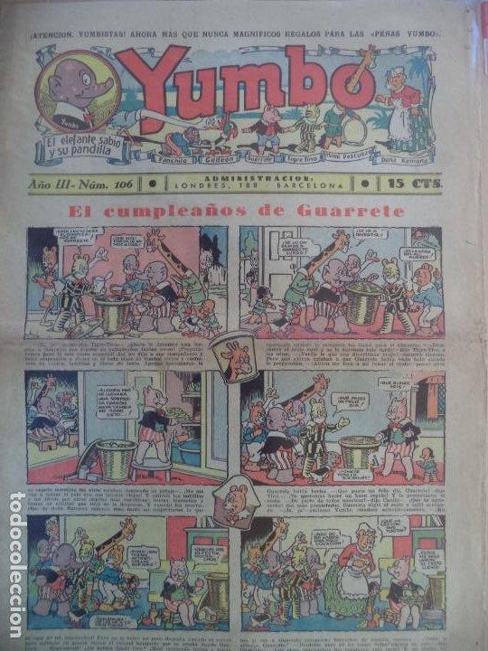 YUMBO EL ELEFANTE SABIO Y SU PANDILLA AÑO III Nº 106 (Tebeos y Comics - Hispano Americana - Yumbo)