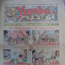Tebeos: YUMBO EL ELEFANTE SABIO Y SU PANDILLA AÑO III Nº 106. Lote 194059197