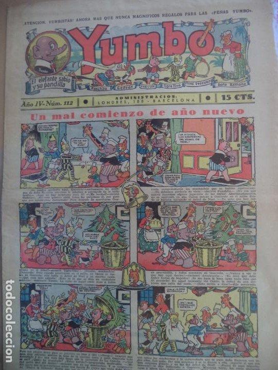 YUMBO EL ELEFANTE SABIO Y SU PANDILLA AÑO III Nº 111 (Tebeos y Comics - Hispano Americana - Yumbo)