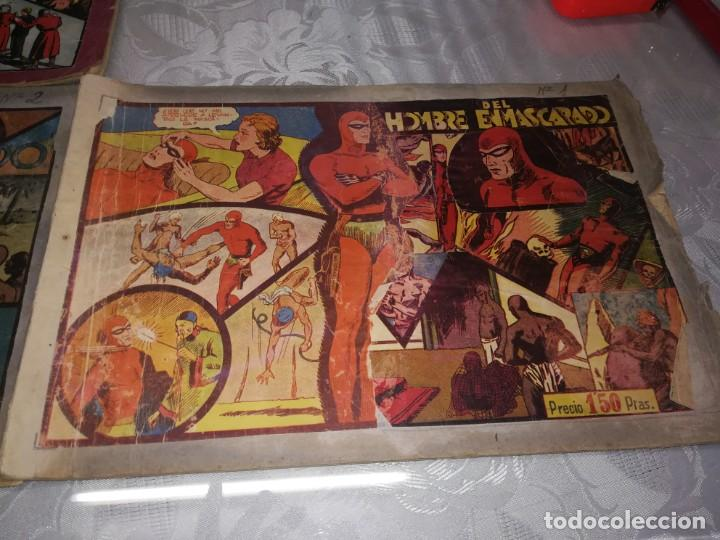 Tebeos: LOTE DE 5 COMIC EL HOMBRE ENMASCARADO DEL NUMERO 1 AL NUMERO 5 HISPANO AMERICANA MIREN FOTOS - Foto 7 - 194105193