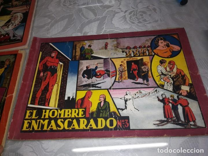 Tebeos: LOTE DE 5 COMIC EL HOMBRE ENMASCARADO DEL NUMERO 1 AL NUMERO 5 HISPANO AMERICANA MIREN FOTOS - Foto 9 - 194105193