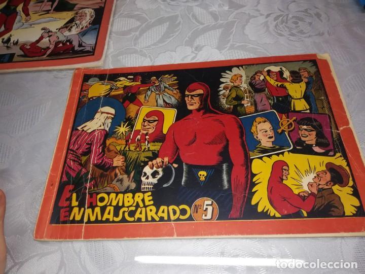 Tebeos: LOTE DE 5 COMIC EL HOMBRE ENMASCARADO DEL NUMERO 1 AL NUMERO 5 HISPANO AMERICANA MIREN FOTOS - Foto 10 - 194105193