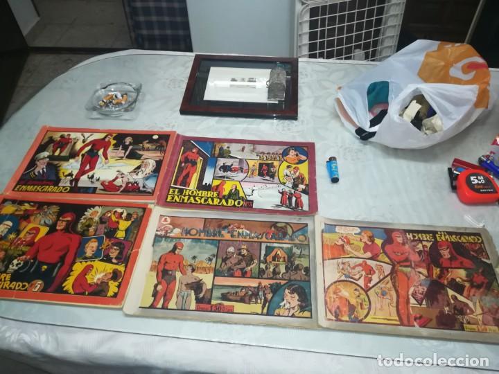 Tebeos: LOTE DE 5 COMIC EL HOMBRE ENMASCARADO DEL NUMERO 1 AL NUMERO 5 HISPANO AMERICANA MIREN FOTOS - Foto 11 - 194105193