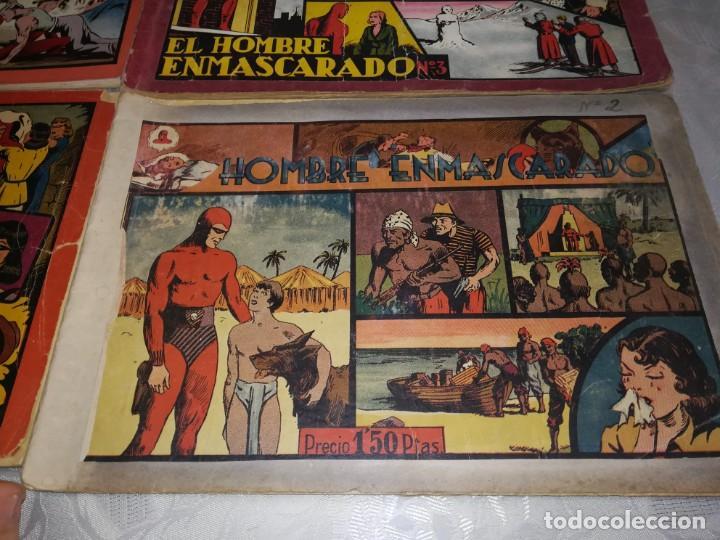 Tebeos: LOTE DE 5 COMIC EL HOMBRE ENMASCARADO DEL NUMERO 1 AL NUMERO 5 HISPANO AMERICANA MIREN FOTOS - Foto 14 - 194105193