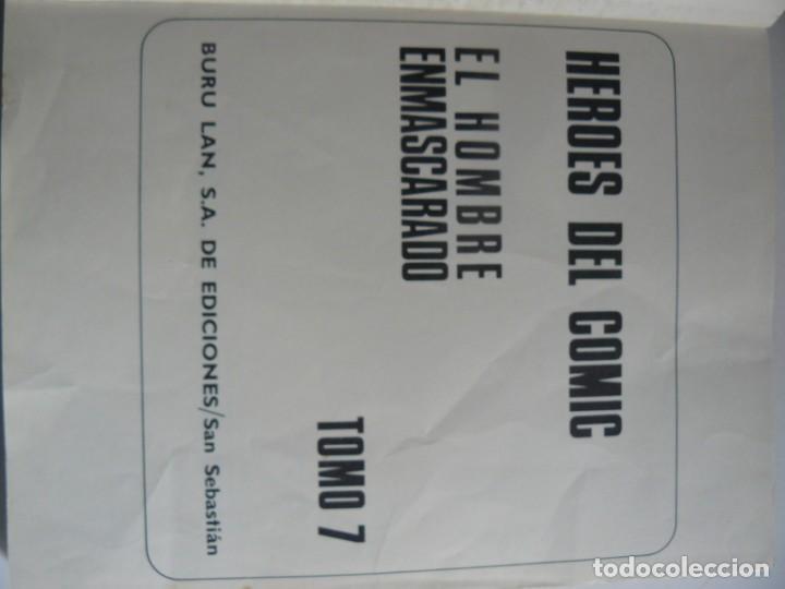 Tebeos: EL HOMBRE ENMASCARADO - PIRATAS MODERNOS - TOMO 7 BURU LAN EDICIONES 9 EPISODIOS 1973 - Foto 5 - 194145113
