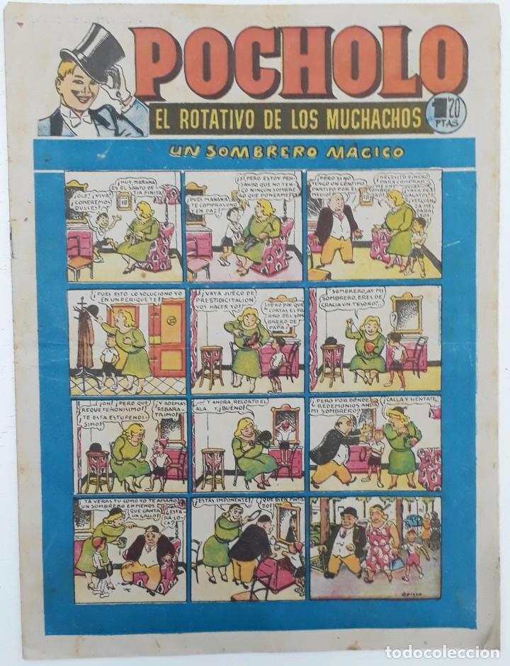 POCHOLO, Nº10 (1951) PORTADA OPISSO, UN SOMBRERO MÁGICO (HISPANO AMERICANA) (Tebeos y Comics - Hispano Americana - Otros)