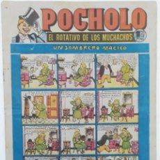 Tebeos: POCHOLO, Nº10 (1951) PORTADA OPISSO, UN SOMBRERO MÁGICO (HISPANO AMERICANA). Lote 194271252