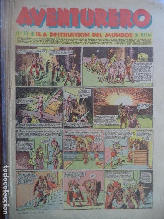 AVENTURERO Nº 30 8 HOJAS DEL 3 DE DICIEMBRE DE 1935 (Tebeos y Comics - Hispano Americana - Aventurero)