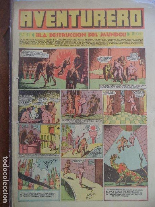 AVENTURERO Nº31 8 PAGINAS DEL 10 DE DICIEMBRE DE 1935 (Tebeos y Comics - Hispano Americana - Aventurero)
