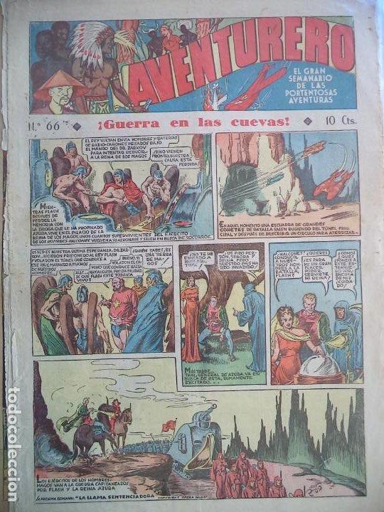 AVENTURERO Nº 66 DEL 18 AGOSTO DE 1936 HOJAS SUELTAS (Tebeos y Comics - Hispano Americana - Aventurero)