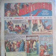 Tebeos: AVENTURERO Nº 66 DEL 18 AGOSTO DE 1936 HOJAS SUELTAS. Lote 194779922