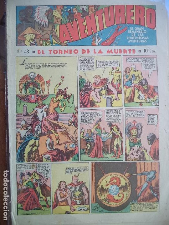AVENTURERO Nº 43 DEL 3 DE MARZO DE 1936 8 HOJAS (Tebeos y Comics - Hispano Americana - Aventurero)